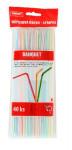 brčka s kloubem pruhy 5x210mm (40ks) - mix barev