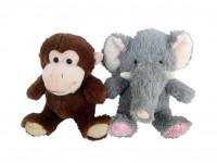 Zvieratá plyšová (slon, opička) 27 cm