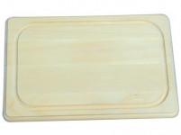 lopárik 45x30x1,9cm s drážkou driev.