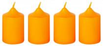 Sviečka adventná 40x60 mm - oranžová - 4 ks