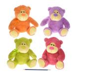 Medvěd plyšový 24 cm - mix barev