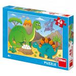 Puzzle 48 dílků: dinosauři