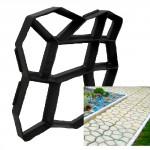 forma na beton MISTR DLAŽDIČ 44x44x4cm plastová, vzhled kamene