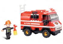 Stavebnice Hasiči - hasičské auto, 133 dílků