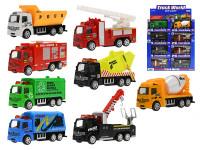 Auto nákladné kov 10 cm 1:55 spätný chod - mix variantov či farieb