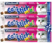 Vitakraft Stick mini cat - treska + tuniak 18 g, 3 ks