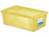 box úložný SCATOLA 5l, 32,5x19x11cm s vekom plastový, ŽL, Ruz