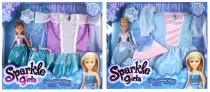 Bábika Princezná Sparkle Girlz zimné + šatičky