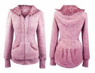 Mikina Teddy GARDEN GIRL CLASSIC PINK fleecová velikost M