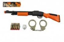 Sada pištole + putá + náboje na prísavky plast 50cm