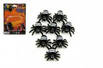 Pavouk mini 8ks plast 2cm na kartě 11x15cm