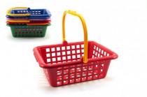 Nákupní košík plast 12m+ - mix barev