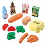 Plastové hračky potraviny v sieťke