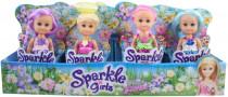 Víla Sparkle Girlz kvetinová s krídlami malá v kornútku