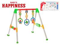 Hrazdička 59x53x48 cm s hrkálkami Baby's Happiness