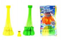 Vodní bomby sada pro vodní bitvu 2x35ks s nástavcem na kohoutek 15x30cm - mix variant či barev