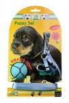 Postroj šteňa nylon + vodítko 15-30cm / 130cm modré KAR