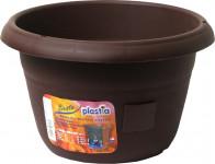 Plastia žardina samozavlažovacia Siesta bez závesu - 25 cm čokoláda
