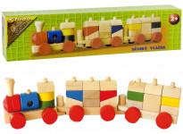 Vlak malý dřevěný