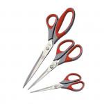 Kancelářské nůžky 16,5 cm - pogumované - 1ks/bal