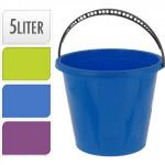 vedro 5l plastové, K - mix farieb