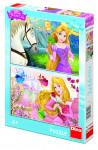 Puzzle 2x66 dílků Princezny: portréty