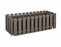 Truhlík Fence plastový hnedo sivý 50cm