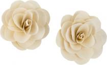 Dekorácie - Wood Petal Deco Rose 6 cm bielené - 2 ks