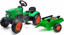 Traktor šlapací SuperCharger zelený s valníkem