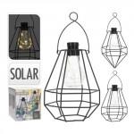 lampa solární 8LED závěsná kov ČER - mix variant či barev