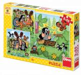 Puzzle Krtek a zvířátka 3x55dílků