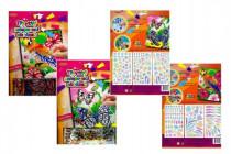 Trblietavý / žiarivý nalepovacie obrázok 20,3x25,4cm - mix variantov či farieb