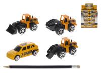 Stavební stroj mini 7 cm kov volný chod - mix variant či barev