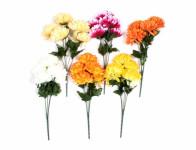 Květina CHRYZANTÉMA KYTICE X5 MIX 30cm