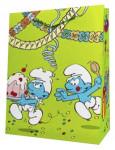 Dárková taška ŠMOULA - zelená 32,5 cm, DITIPO - VÝPREDAJ