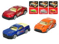 Auto športové 7 cm kov voľný chod - mix variantov či farieb