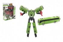 Transformer autobus / robot plast 17cm - mix farieb
