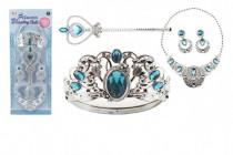 Sada krásy veľká plast korunka + náhrdelník + naušnice + žezlo