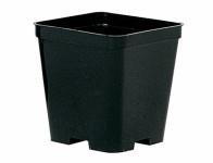 Květník STOP QUADRO plastový černý 14x14cm