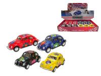 VW Classical Beetle 13 cm kov zpětný chod - mix barev