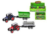 Traktor s vlečkou 17 cm kov zpětný chod - mix variant či barev