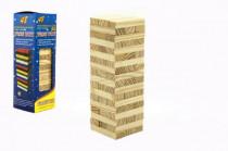 Hra Jenga veža prírodné drevo 48ks hlavolam