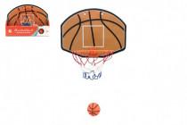 Kôš na basketbal s doplnkami 34x25 plast priemer 19cm