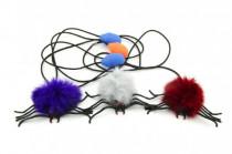 Pavúk skákajúci plyš / plast 7cm - mix variantov či farieb