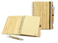ECO bambusový zápisník s bambusovým perom a recyklovaným papierom, CatMotion