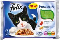 Felix cat kaps.-Fant.Multipack mas.výběr + zelen. 4 x 100 g