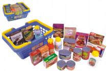 Nákupní košík s potravinami 23ks plast