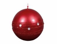 Sviečka ZIRKON GUĽA vianočné metalická lesklá d8cm