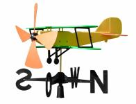 Větrné letadlo plastové 47x33x55cm
