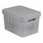 box úložný INFINITY dierovaný 36,3x27x22,2cm s vekom, plastový, ŠE